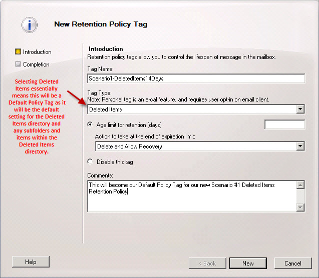 email retention policy template - exchange 2010 sp1 retention policies elan shudnow 39 s blog