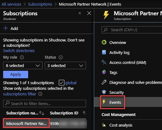 Verifying Event Grid Subscription is linked with Azure Function