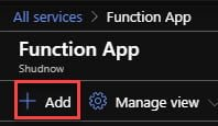 Create new Function App in the Azure Portal.