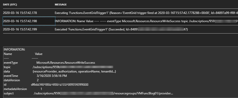 View Azure Function PowerShell Logging detailed information using Application Insights Logs