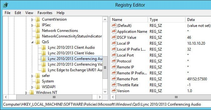 Enabling QoS for Lync Server 2013 and Various Clients – Part