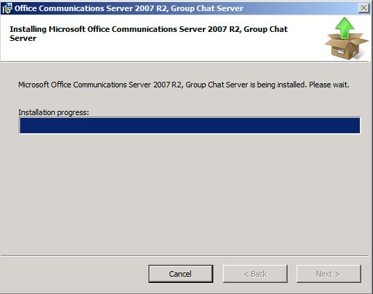 Office Communications Server 2007 R2 Group Chat Deployment