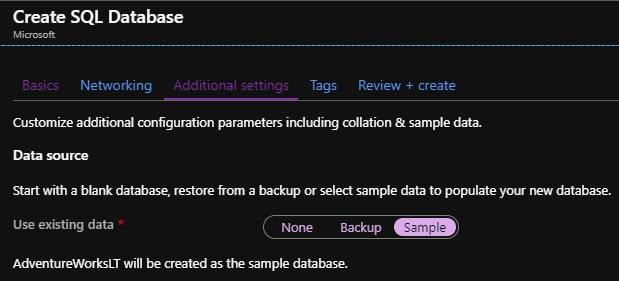 Create Azure SQL Database