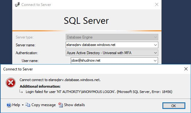 Leverage alternate admin and try to login at server level.